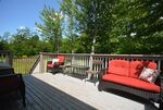 Great sized deck allows for lots of outdoor seating
